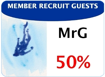 Member recruit guests 50 %